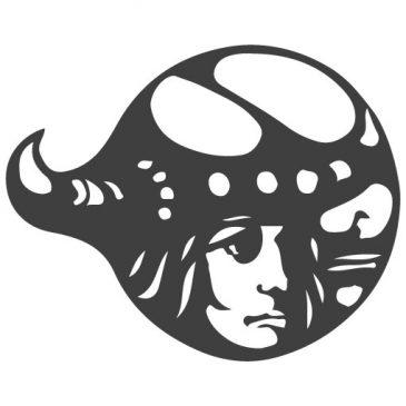 tegnet logo af viking